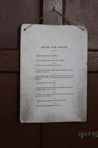 rules board - sparetomato