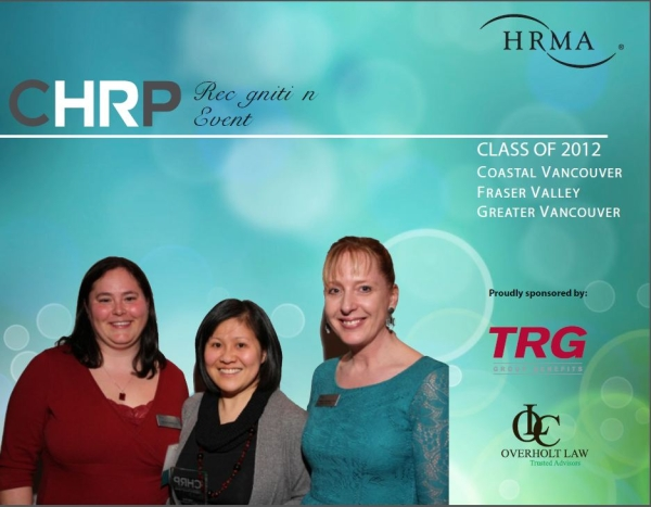 CHRP - BCHRMA event, Vivian Fung awarded